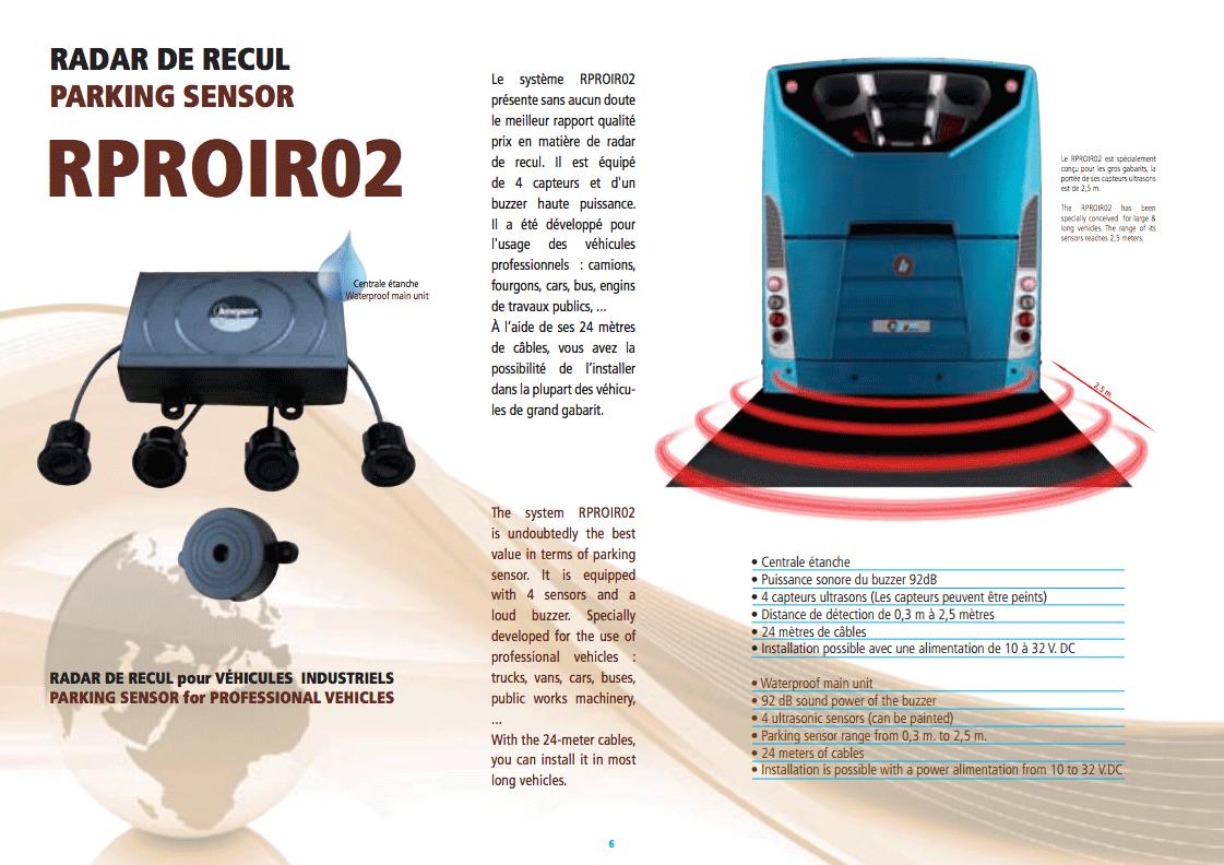 Fiche produit RPRO-IR02